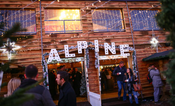 People enjoy the Alpine Bar in Bournemouth Square.