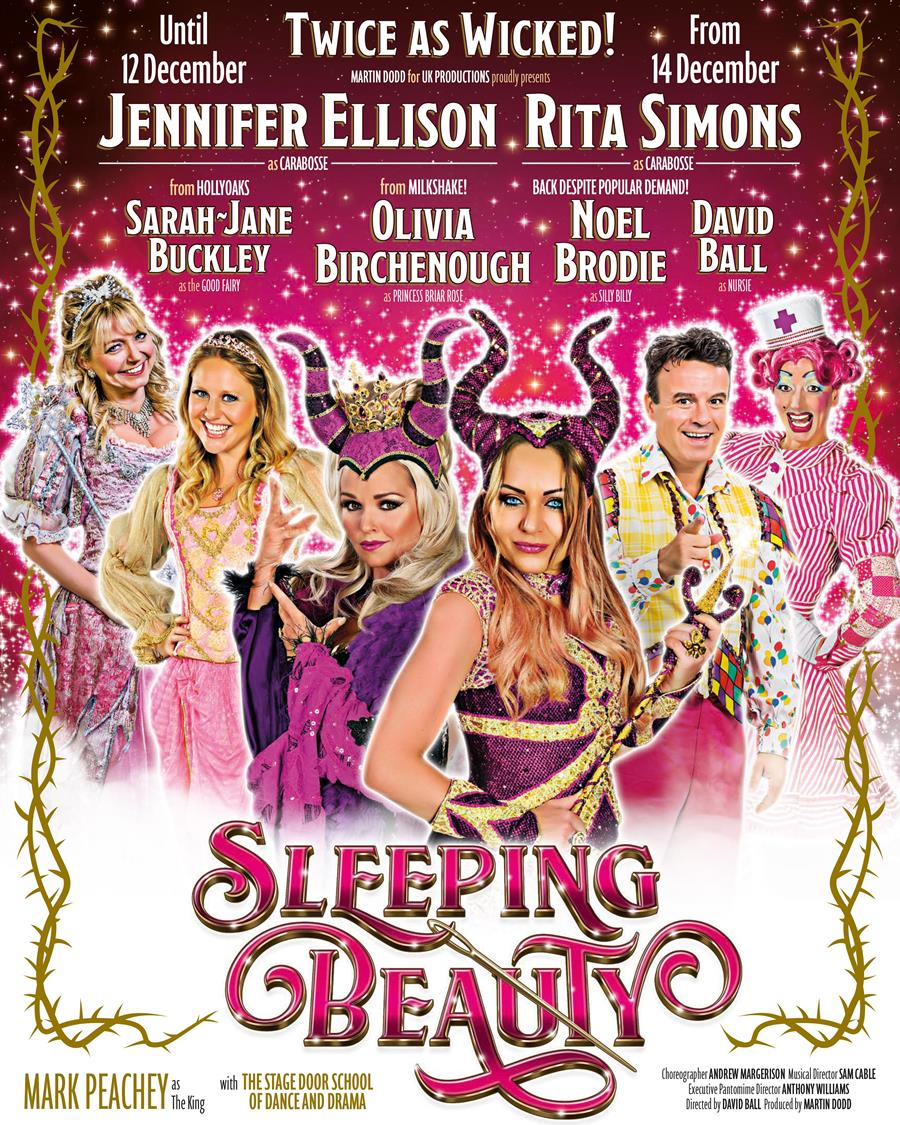 A promotional poster for the Sleeping Beauty pantomime in Bournemouth.