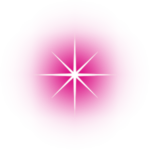 A pink star decoration.