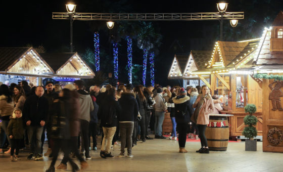 The Bournemouth Christmas Market at Night