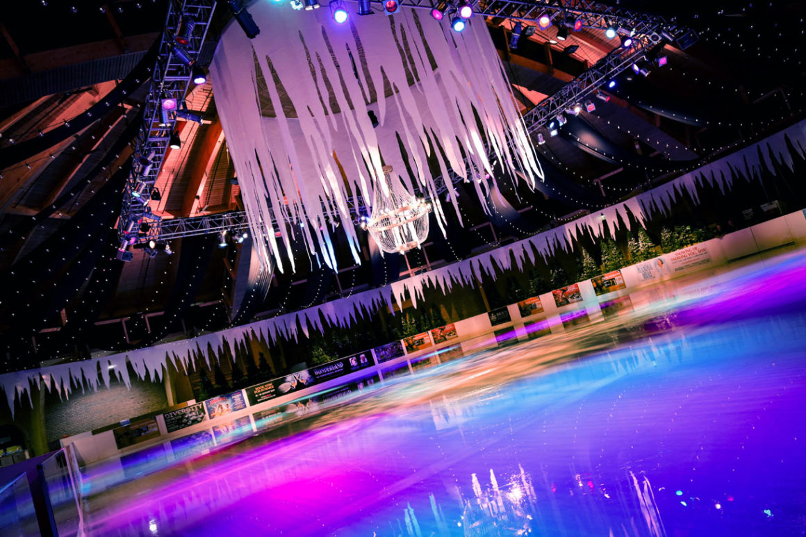 The indoor skating rink at the Bournemouth International Centre.