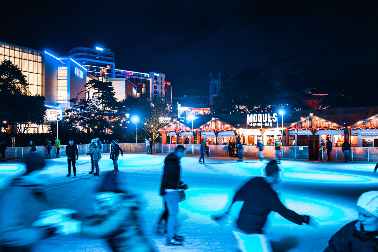 Outdoor skating rink in Bournemouth's Lower Gardens.