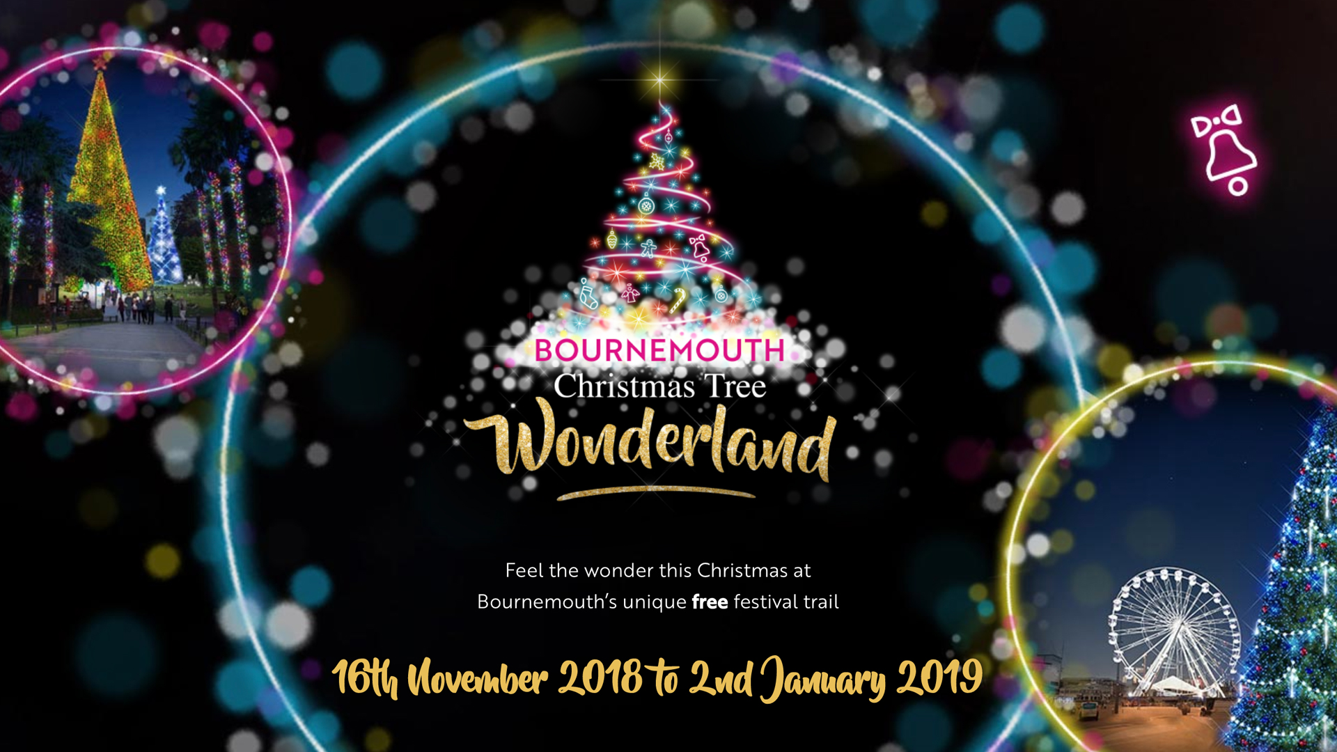 Christmas Tree Wonderland Bournemouth 16th Nov 2018 2nd Jan 2019