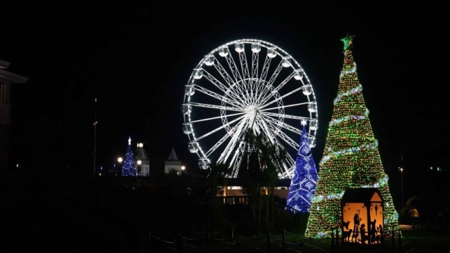 Bethlehem Tree and Big Wheel in Bournemouth