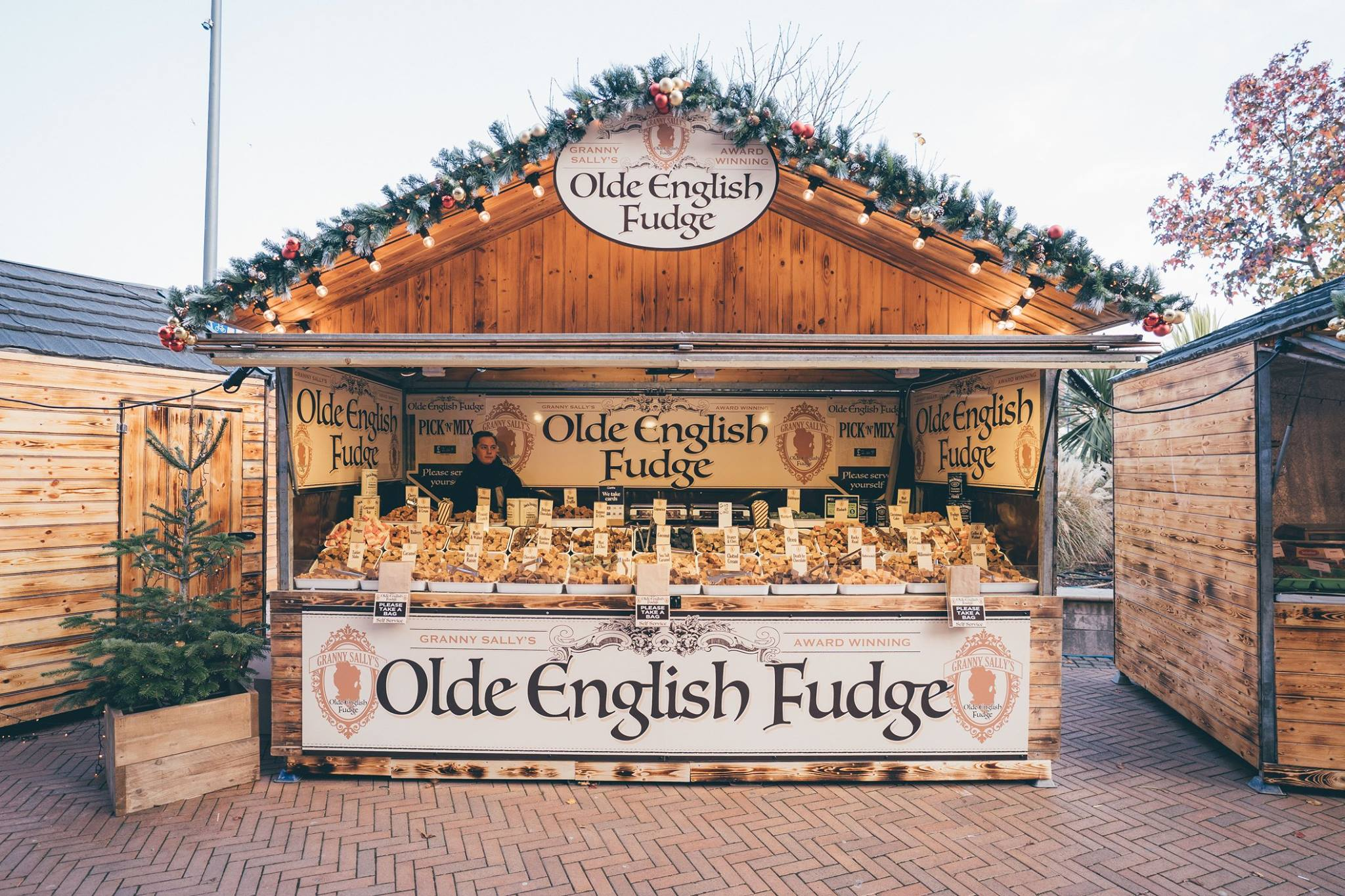 Olde English Fudge Christmas Market Stall