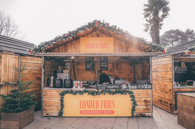 Loaded Fries Christmas Market Stall