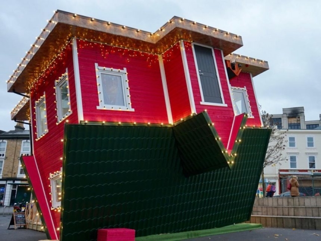 Upside Down House in Bournemouths Triangle