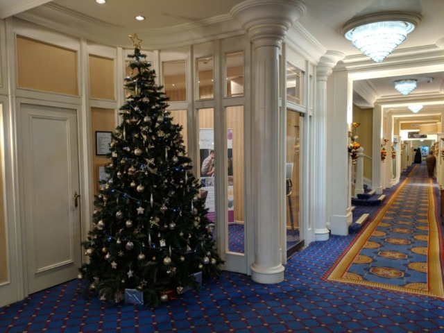Hallmarks Christmas Tree in their Reception area