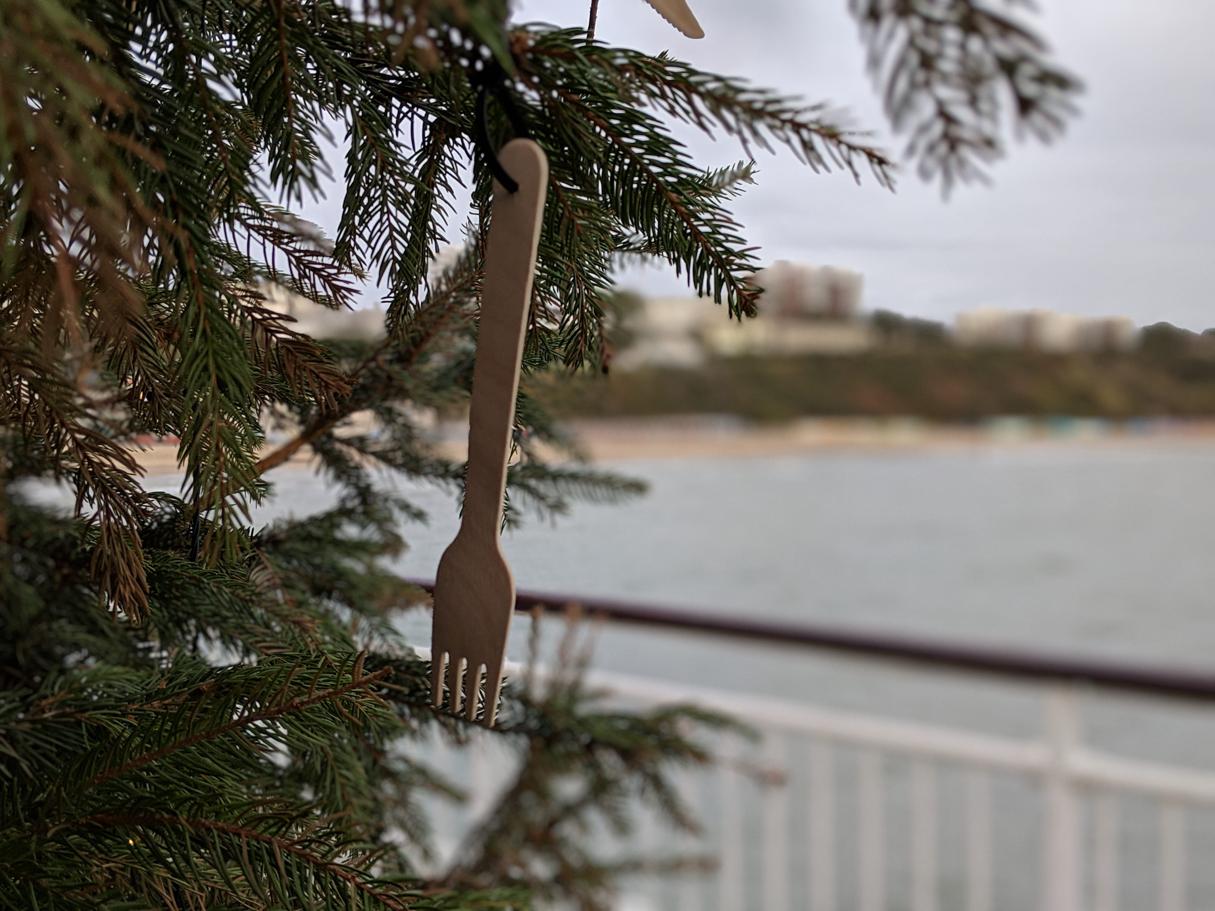Key Wests Christmas Tree Close up of Cutlery
