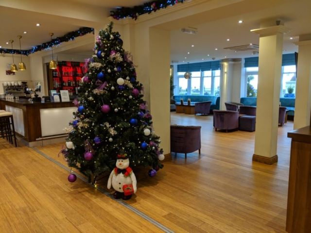 Marshams Christmas Tree in the Hotel Foyer
