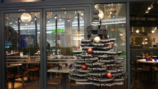Pizza Express's Pizza Box Tree