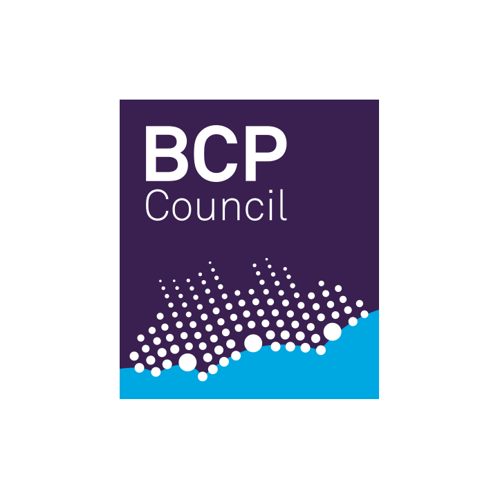 Bournemouth, Christchurch and Poole councils purple, blue and white logo